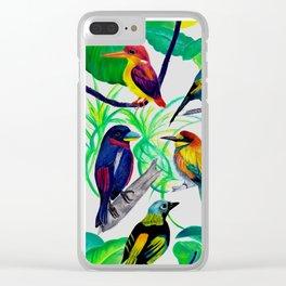 Birds, birds, birds.... Clear iPhone Case