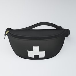 The Baxter's balaclava glyph on Black Mirror Fanny Pack
