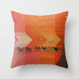 Feed The Right Dogs Throw Pillow