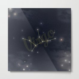 Virgo Constellation - Zodiac Metal Print