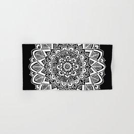 Black and White Boho Mandala Hand & Bath Towel