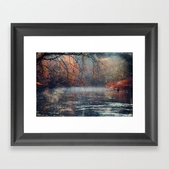 between fall & winter Framed Art Print