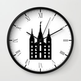 Mormon Style Temple Wall Clock