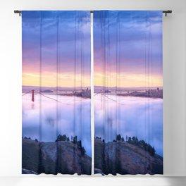 Breathtaking Hillside View Historic Golden Gate Bridge Low Hanging Clouds San Francisco California Blackout Curtain