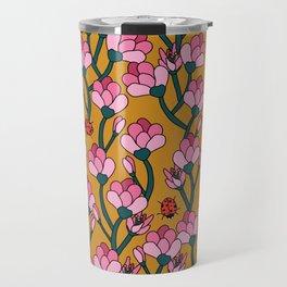 Flower Buds and Lady Beetles Travel Mug