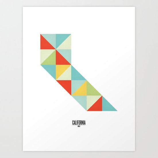 Geometric California Art Print