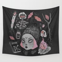 witchcraft Wall Tapestries featuring Magical ϟ Autumn by lOll3