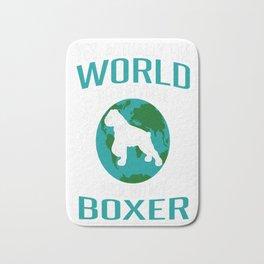 World-Does-Revolve-Around-My-Boxer Bath Mat