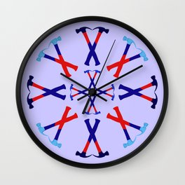Hammers Design version 1 Wall Clock