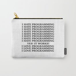 I LOVE PROGRAMMING Carry-All Pouch