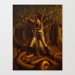 The Serpent and the Rose Canvas Print