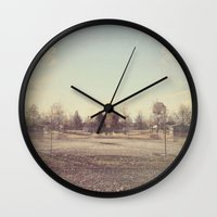 parks Wall Clocks featuring When Parks Were a Thing by Jane Lacey Smith