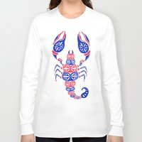 patriotic Long Sleeve T-shirts featuring Patriotic Scorpion by Cat Coquillette
