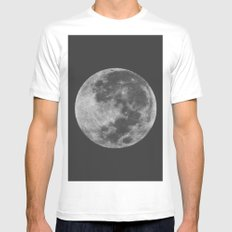Midnight Moon Mens Fitted Tee White MEDIUM