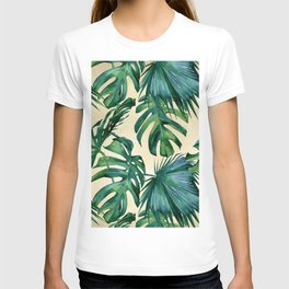 Tropical Island Republic Green on Linen T-shirt