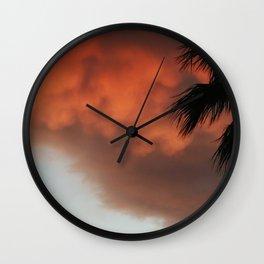 Stomy Sunset Wall Clock
