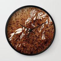 spider man Wall Clocks featuring Spider Man by Redeemed Ink by - Kagan Masters