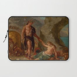 """Eugène Delacroix """"Autumn from a series of the Four Seasons (Baccus and Ariadne)"""" Laptop Sleeve"""