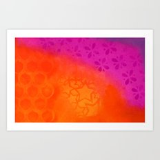 From orange to purple Art Print