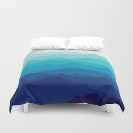 Blue Mist Mountains Duvet Cover