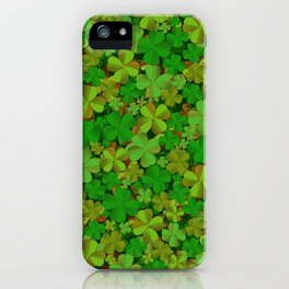 Lucky Clovers iPhone Case