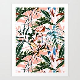 Vibrant botanical dreams Art Print