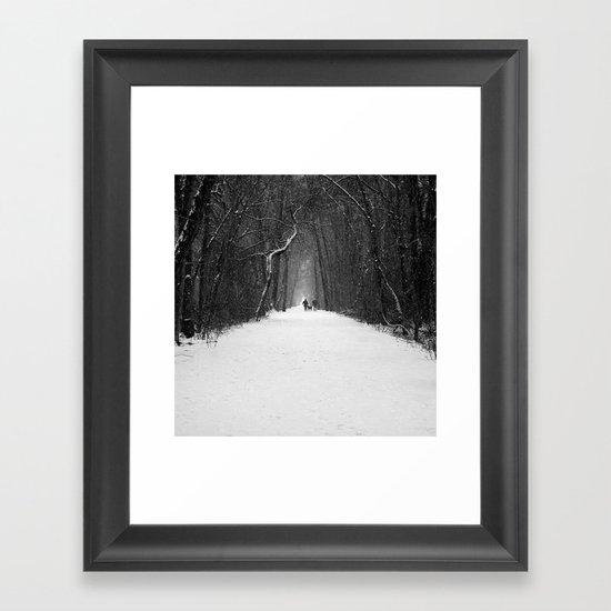 Snow White Morning Framed Art Print