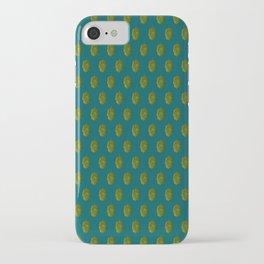 Hops Dark Cyan Pattern iPhone Case