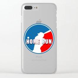Home Run Baseball Logo Clear iPhone Case