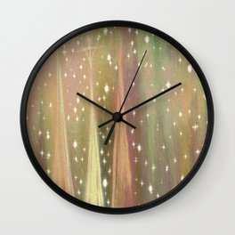 Just as the setting sun turned the clouds to liquid gold. Wall Clock