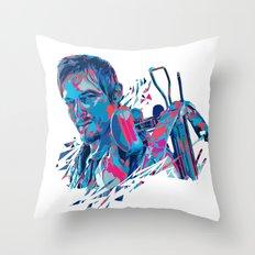 Daryl Dixon // OUT/CAST Throw Pillow