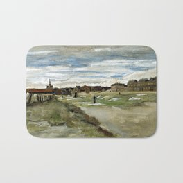 Vincent van Gogh Bleaching Ground at Scheveningen Bath Mat