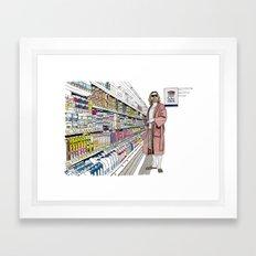 Jeffrey Lebowski and Milk. Framed Art Print