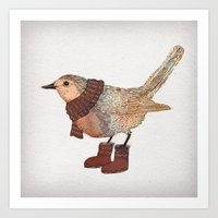 robin Art Prints featuring Robin by David Fleck