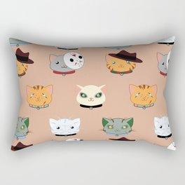 Slasher Kitties (Horror-movie inspired cats) - Pattern V. Rectangular Pillow