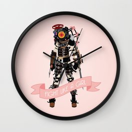 Fight Like a Girl: Big Sister Wall Clock