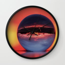 Winter morning in February Wall Clock