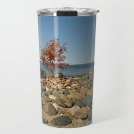 Orange tree at the shore Travel Mug