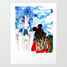 Take me to Disneyland Art Print