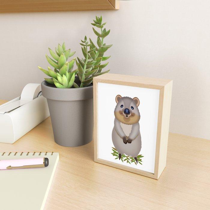 Quokka Framed Mini Art Print