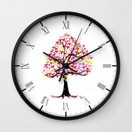 Summer Hearts Tree Wall Clock
