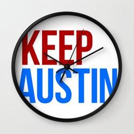 KEEP AUSTIN Wall Clock