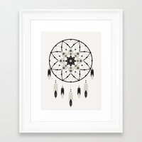 dreamcatcher Framed Art Prints featuring Dreamcatcher by Bohemian Gypsy Jane