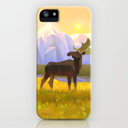 Moose Mountain Morning iPhone Case