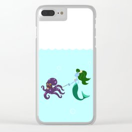 Mermaid and her Octopus Clear iPhone Case