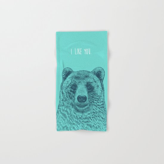 I Like You (Bear) Hand & Bath Towel