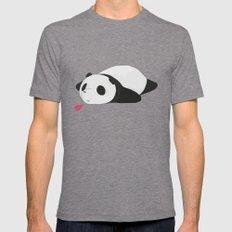 Panda 2 LARGE Mens Fitted Tee Tri-Grey