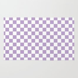 Lavender Checkerboard Pattern Rug