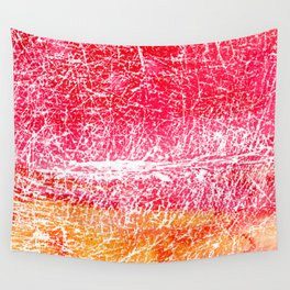 Red and yellow abstract texture Wall Tapestry