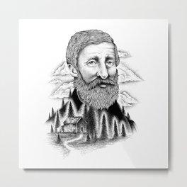 THOREAU Metal Print